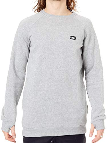 Bro Grey Chill N Shred Crew Snowboarden Sweater