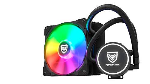 Nfortec Hydrus RGB Refrigeración Líquida 120mm con Retroiluminación RGB y Ventiladores de 120mm con PMW Integrado