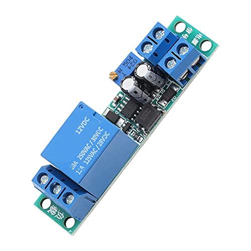 12V Relais à Action Lente 0-25s Réglable Module de Contrôle Relais de Temporisation Activer/Désactiver Automatique Module de commutation avec Isolateur Opto-isolant