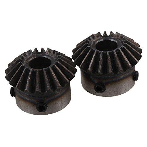 Yibuy - 2 ruedas dentadas cónicas de acero grado 45 con