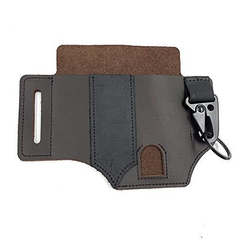 Yseng Leder-Hüfttasche, Multitool-Leder-Ummantelung, Taschen-Organizer, Messer-Gürtel, Hülle/Leder-Taschenlampen-Holster/für Camping braun