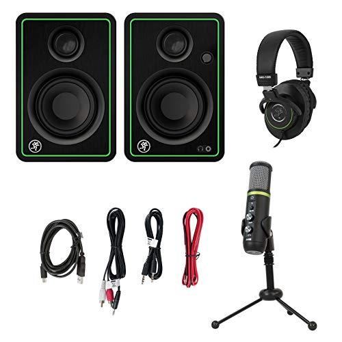 Sale!! Mackie Creator Bundle w/ CR3-X Monitors+EM-USB Condenser Mic+MC-100 Headphones