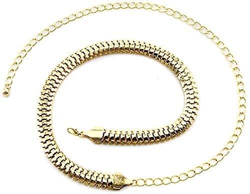 Trimming Shop - Cinturón para mujer, color dorado