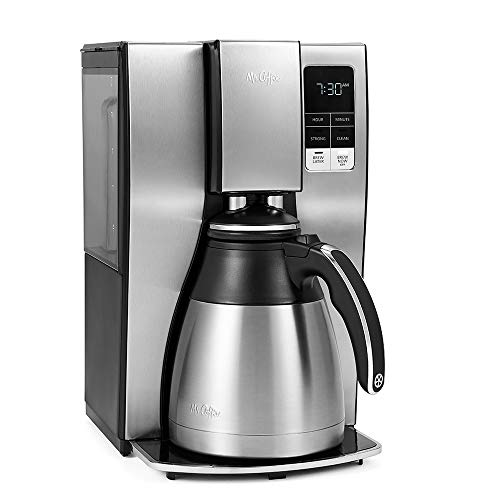 Mr. Coffee 10 Cup Thermal Programmable Coffeemaker, Stainless Steel