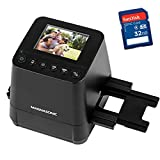 Magnasonic All-in-One Slide & Film Scanner, High Resolution 23MP, Converts 35mm/110/126 Negatives