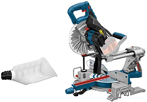 Bosch Professional 0601B41000 BITURBO Cordless Sliding Mitre GCM 18 V-216 (Saw Blade Diameter: 216 mm, Excluding Rechargeable Batteries and Charger, in Cardboard Box)
