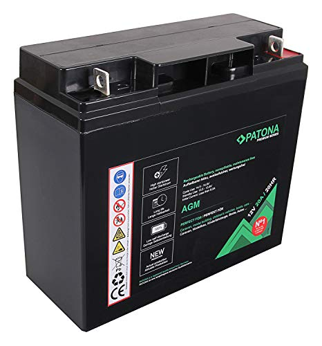 PATONA Premium AGM 12V 20Ah Blei Batterie VRLA Wartungsfrei 1800 Zyklen
