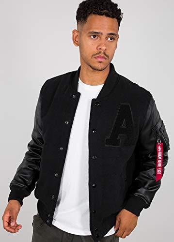 ALPHA INDUSTRIES Herren Alpha Authentic College JKT Jackets, Noir, S