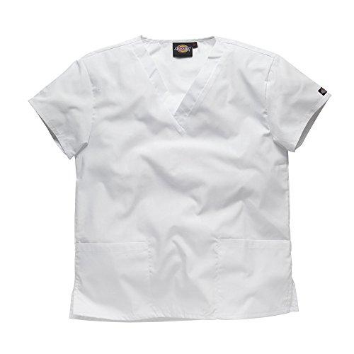 Dickies Workwear Schlupfhemd Medizin 2 Taschen mit V-Ausschnitt XL weiß