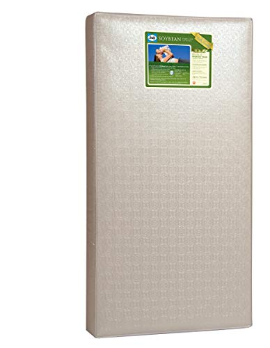 Sealy Baby Soybean Foam-Core Waterproof Standard Toddler & Baby Crib Mattress – Lightweight...