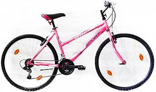 Bikesport ADVENTURE Bicicletta Donna Mountainbike 26' (Gloss rosa)