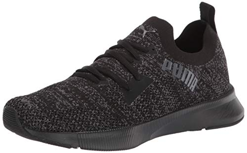PUMA mens Flyer Runner, Puma Black-Asphalt, 13 M US