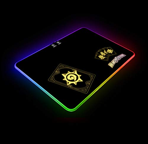 jolimark Hearthstone B RGB Gaming Mouse Pad LED Atmosphere Light Gaming Surface Color Control Anti-Slip Rubber Base Video Game Art Gift Gamer Gifts Birthday