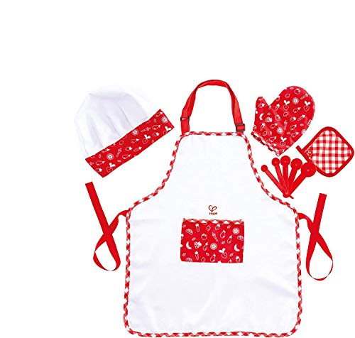 Hape Chef Pack | Chef Dress Up Play Set with Cooking Accessories for Kids