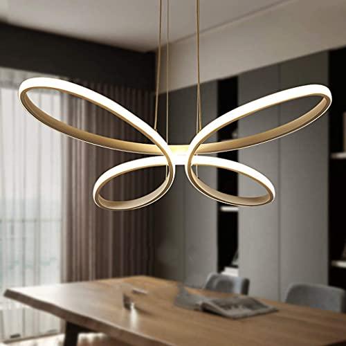 XKUN Lámpara Colgante Moderna para Mesa de Comedor, Lámpara Colgante, 54 W, Luces Colgantes Acrílicas, Lámpara Colgante con Control Remoto Regulable con Luz de Mariposa Creativa, Altura Ajustable de