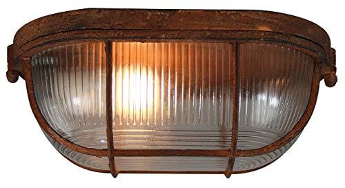Brilliant Bobbi Plafondlamp, wandlamp, 28 cm, roestkleurend, industriële look, glas, 1 x E27 geschikt voor normale lampen tot maximaal 40 W.