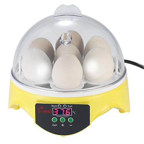 Anself Incubateur d'oeufs Mini 7 Oeufs Oeufs d'Incubation de la Machine Automatique de Contrôle de la Température pour Poulet Canard Oiseaux Oeufs