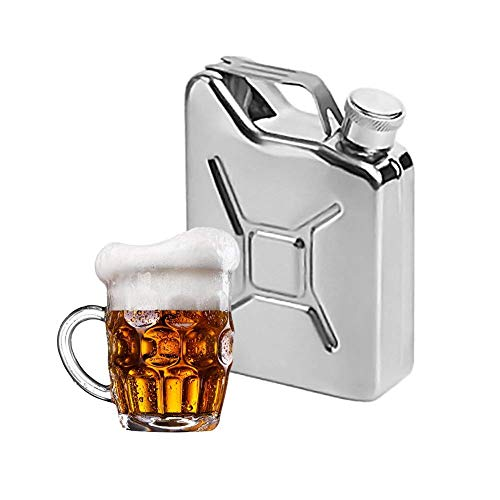 Kolven 1PC RVS Flagon 5 oz Hip Kolven draagbare Whisky Wijn Pot Steel Metal Brandstof Benzine Cans for Whiskey fles sterke drank Metal Mooie delicate draagbare heupfles.