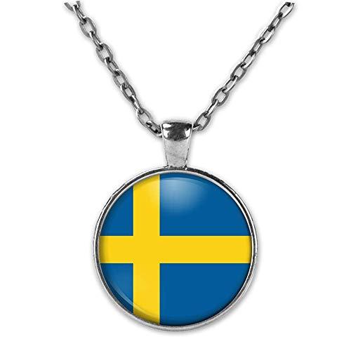 Schweden Anhänger Schwedischen Schmuck Skandinavien Halskette