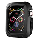 ivoler [3 Unidades] Funda para Apple Watch SE/Apple Watch Series 6/5 / 4 40mm, Protector de Pantalla para iWatch Serie 5/4 40mm, Carcasa de Apple Watch 40mm, Hermès/Nike+ Edition - Negro