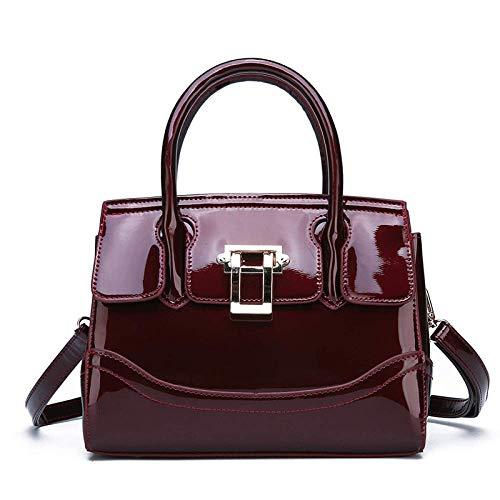 MEIDI Home Lack Kelly Bag Workplace Atmosphere Handtasche Europäische und Amerikanische Mode Lady Schultertasche (Color : C)