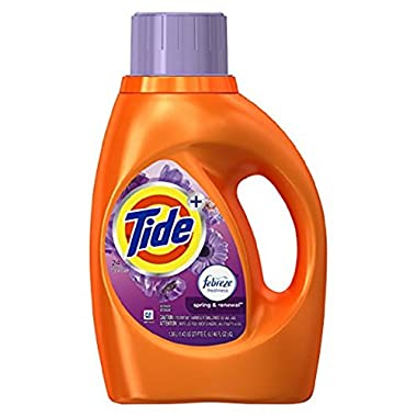Tide Liquid Laundry Detergent, Spring & Renewal, 46 Ounce (Pack of 2)