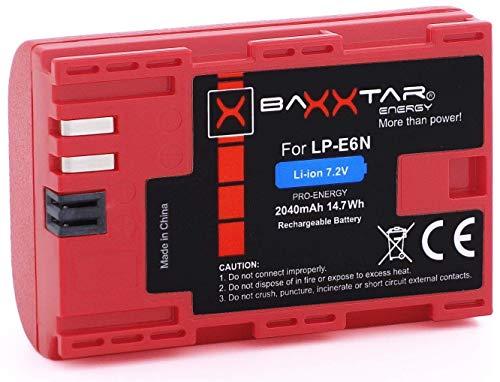 Baxxtar PRO II - Ersatz für Akku Canon LP-E6N (echte 2040mAh) optimiert
