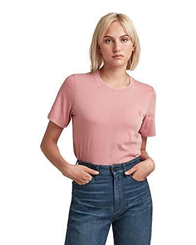 G-STAR RAW Regular Fit Overdyed Camiseta, Rosa Dusty Rose GD B059-c679, XS para Mujer