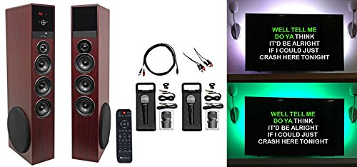 Find Bargain Rockville Bluetooth Home Theater/Karaoke Machine System W/LED'S+ Subwoofers+Mics
