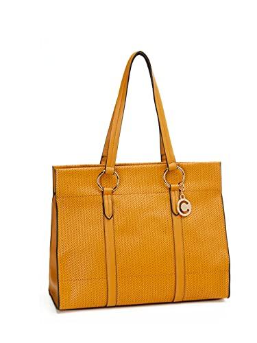 Carrera Bolsa de la compra Florence Collection – Dimensiones (L,L,H): 36 × 10 × 32 cm. Amarillo Size: Talla única