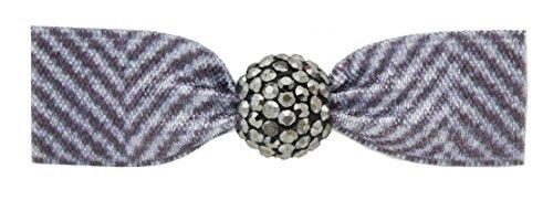 Emi Jay - Fermaglio per capelli, motivo leopardo delle nevi con perline in cristallo di colore bianco zaffiro