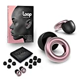Loop Earplugs for Noise Reduction (2 Ear Plugs) High Fidelity Ear Protection for Concerts, Work Noise Reduction, Studying, Musicians, Motorcycles, Relaxation - 20 dB Filter Sound Blocking - Rose Gold