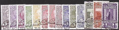 Goldhahn  erreich Nr. 161-174 gestempelt 80. Geburtstag Franz Joseph 1 Heller bis 1 Krone 1910 Briefürken für Sammler