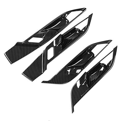 4 Piezas De Fibra De Carbono Estilo Coche Auto Interior Puerta Tazón Cubierta Marco Embellecedor para BMW X1 F48 2016 2017 2018 2019 Accesorios De Estilo De Coche