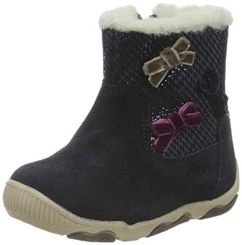 Geox Baby-Mädchen B New BALU' Girl A Ankle Boot, Blue (Dk Navy), 23 EU