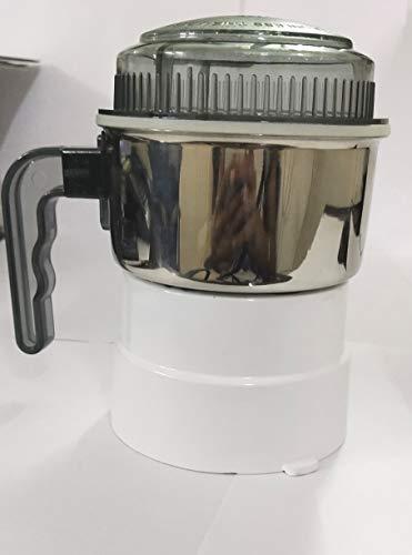 SUJATA Steel Chutney Jar (Silver, Small/8x8x8 cm)