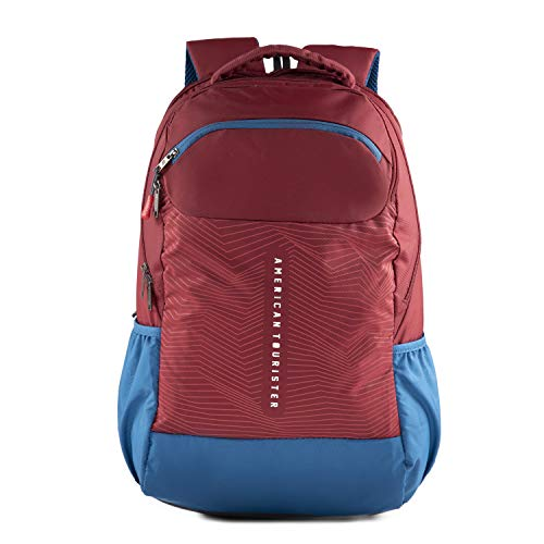 American Tourister Jazz NXT 02 Red Blue Backpack