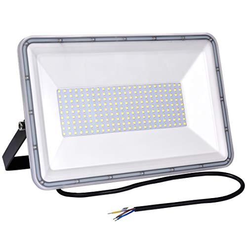 200W Projecteur LED Extérieur, IP67 étanche Spot LED Extérieur, Super Lumineux 16000LM Blanc Froid 6500K éclairage de Sécurité pour Jardin, Cour, Garage, Entrée, Terrasse
