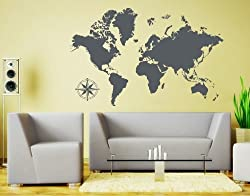 World Map Wall decal  decoration