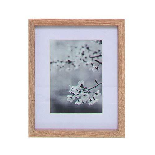 Vidal Regalos Cuado Decorativo Marco de Fotos 13 x 18 cm Portafotos Pared Madera Flores Cerezo Sakura Blanco y Negro 27 cm