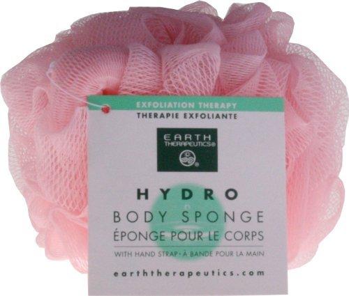 Earth Therapeutics Hydro Body Sponge w/Hand Strap-Pink by Earth Therapeutics
