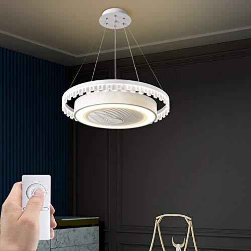 SXYY-Great Wall Style Abgehängte Decke LED Modern Deckenventilator Licht/Unsichtbares Fan Licht - Deckenventilatoren Mit Beleuchtung Und Fernbedienung, Für Schlafzimmer/Küche/Wohnzimmer, Φ18.11In