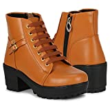 Carrito Zipper Synthetic Leather Casual Stylish Boots for Women and Girls Boots Boots