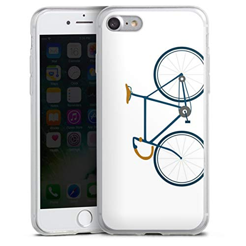 DeinDesign Slim Case extra dünn kompatibel mit Apple iPhone SE (2020) Silikon Handyhülle transparent Hülle Fahrrad Mountainbike Comic