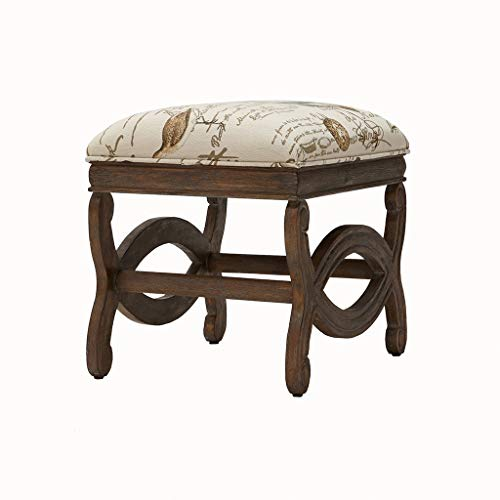 Madison Park Candice Exposed Wood Ottoman Multi See Below
