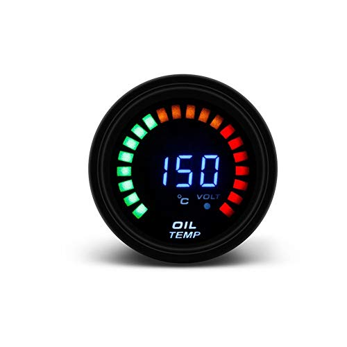 CAIZHIXIANG 2' 52mm LED 12V Auto Oil medidor Digital de Temperatura con Sensor de Temperatura automático Instrumentos de Aceite del Coche Meter