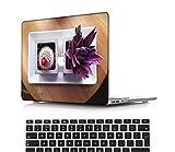 NEWCENT MacBook Pro 16' Funda,Plástico Ultra Delgado Ligero Cáscara Cubierta EU Teclado Cubierta para MacBook Pro 16 Pulgadas con Touch Bar Touch ID 2019 Versión(Modelo:A2141),Serie púrpura 0202