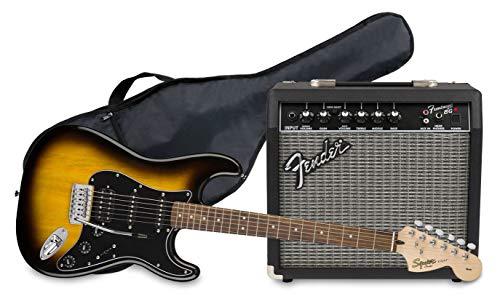 Fender Squier Affinity Stratocaster LRL HSS Brown Sunburst + Frontman 15G +...