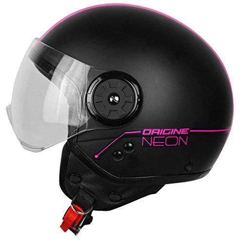 Origine Motorrad-Helm Neon Street Demi-Jet, pink, L