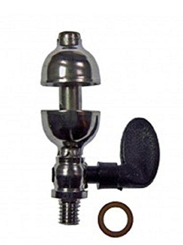 01522 - Wilesco ET - Domdampfpfeife, Nickel, M5 - Gewinde, mit Kunststoffhebel